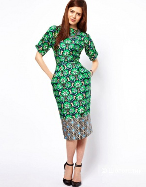 Продам оригинальное облегающее платье с принтом ASOS.