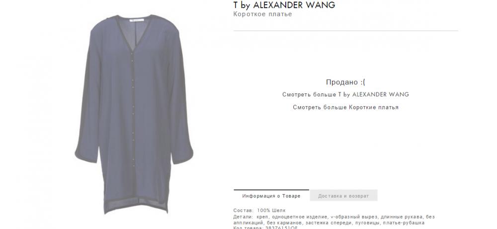 Платье - рубашка WANG .