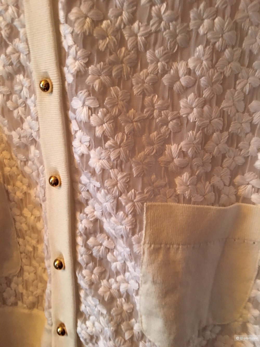 Нежный светлый кардиган американского бренда Kate Spade New York, размер L, новый