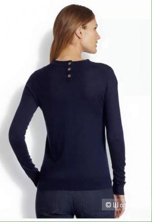 Свитер темно-синий tory burch  sweater  size s из 100 кашемира новый с этикетками