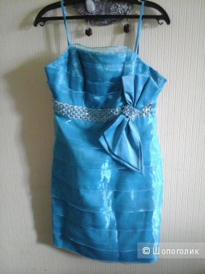 Новое платье бирюзовое,размер 42 русский