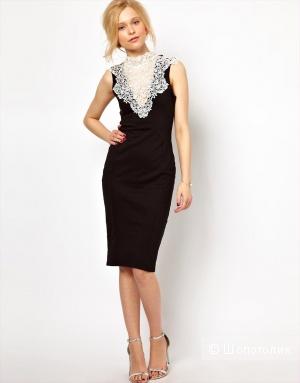 Продам новое оригинальное платье-футляр с кружевной отделкой на воротнике Lydia Bright.