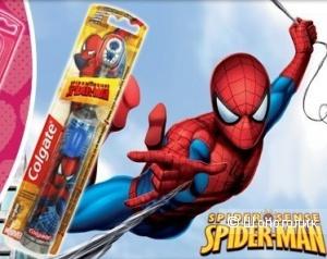 Электрическая зубная щетка с мягкой щетиной Colgate «Spiderman»