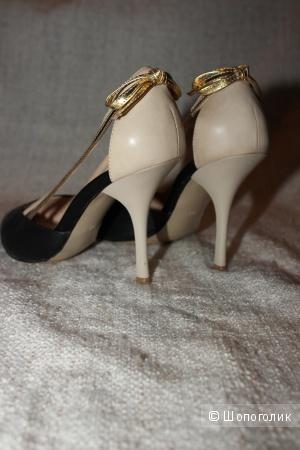 Красивые туфли из натуральной кожи TF TREND'S, Италия на 38-38,5 размер.
