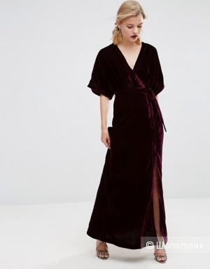 Бархатное платье макси Asos