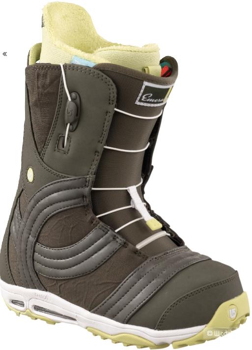 Сноубордические ботинки burton emerald б/у