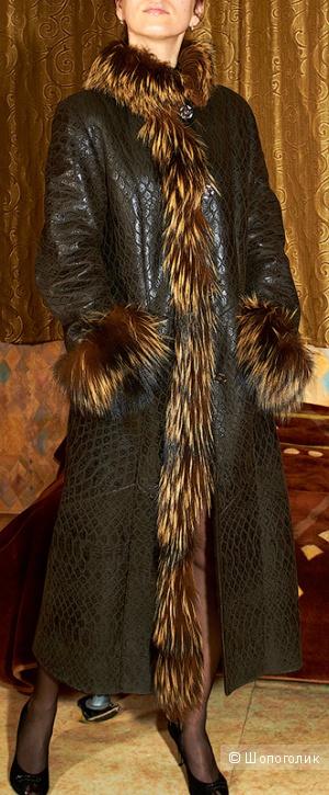 Дублёнка Vito Ponti, Греция, натуральная кожа + натуральный мех, в отличном состоянии