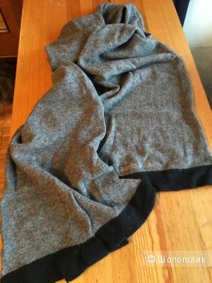 Серо-черный кашемировый шарф Emporio Armani