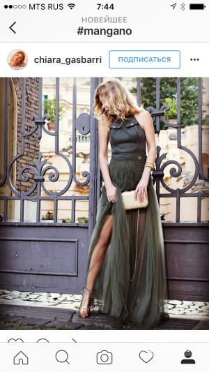 Шикарное Итальянское платье MANGANO размер М