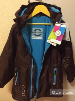 Зимняя куртка Mikk-Line новая размер 140 см Дания д/м