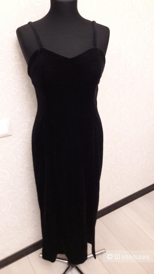 Бархатно-велюровое вечернее /коктейльное платье