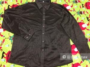 Черная мужская нарядная рубашка, на рос. 50-52 размер
