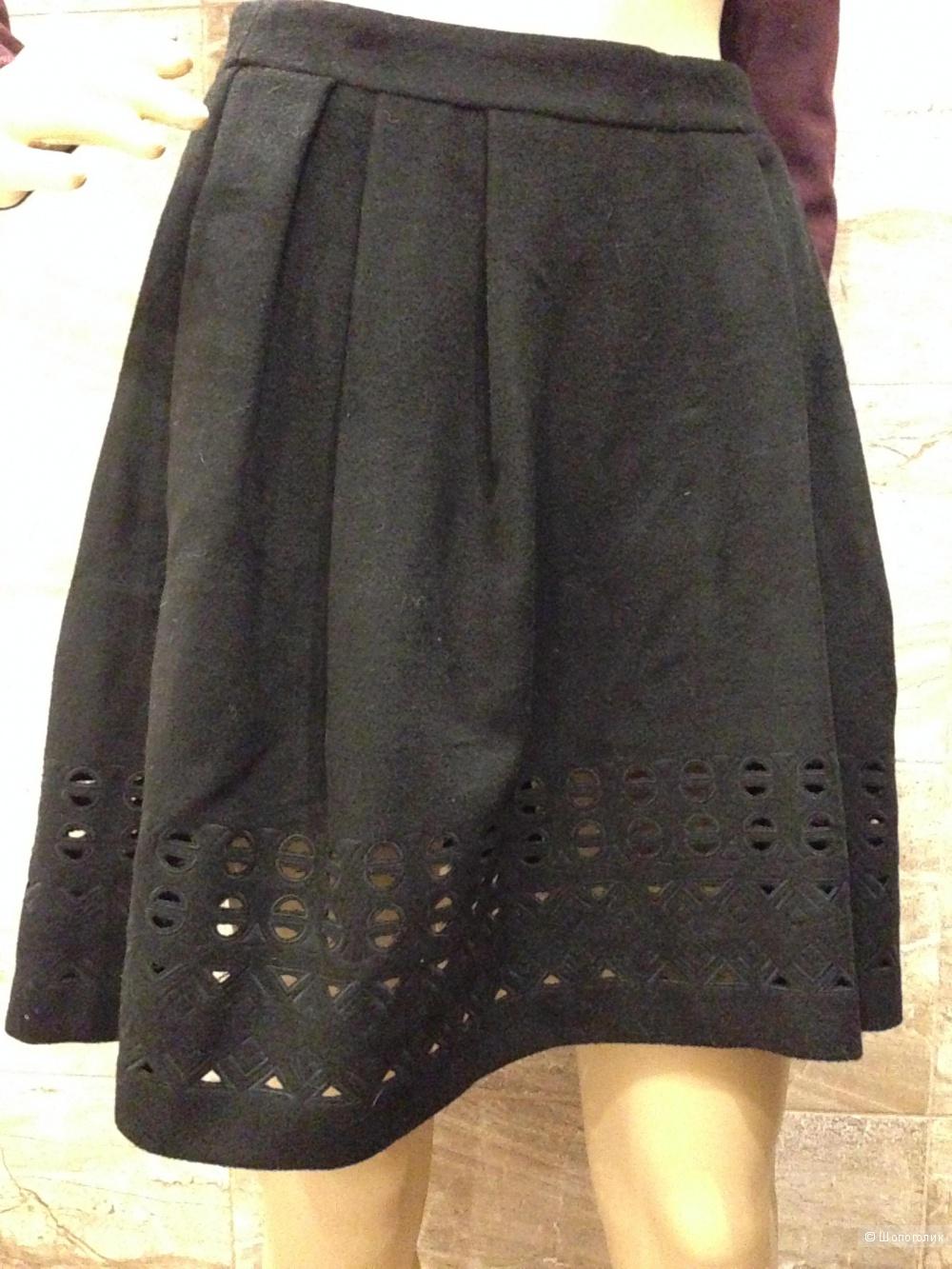 Теплая драповая юбка  от Catherine Malandrino р.44 Новая.Оригинал