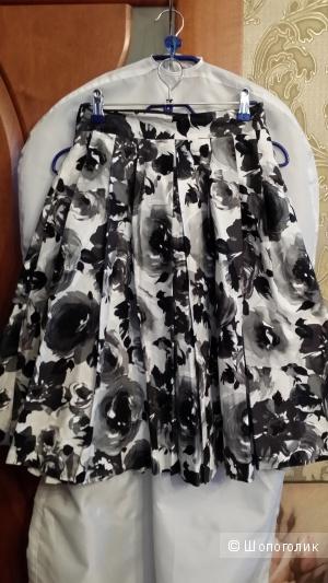 Юбка H&M 44-46 размер с боковыми карманами 100% хлопок