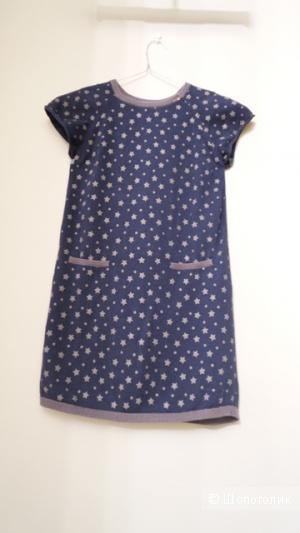 Уютное трикотажное платье для девочки 10-11 лет из DPAM