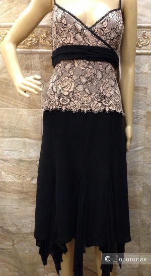 Karen Millen красивое вечернее платье с ассиметричной юбкой р.44 Оригинал