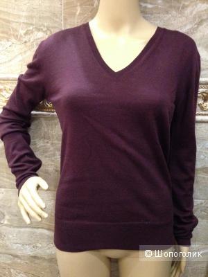 Alexander McQueen шерстяной свитерок ежевичного цвета р.44.Оригинал