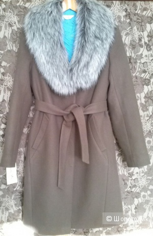 Пальто  кашемировое утепленное зимнее 42-46 шоколад
