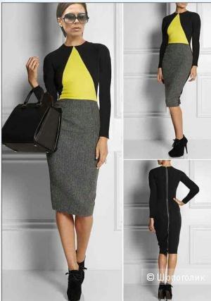 Стильное комбинированнное платье