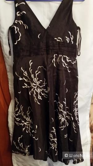 Платье Monsoon (лен+шелк) с объемной вышивкой шелком 10 UK размера