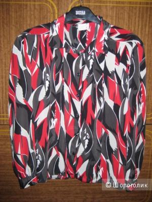 Блузка черный с красным 56 размер