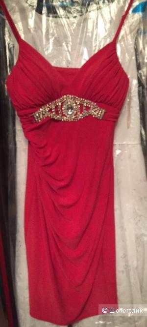Платье VIP STAIL красное вечернее (брак, б/у) р.44
