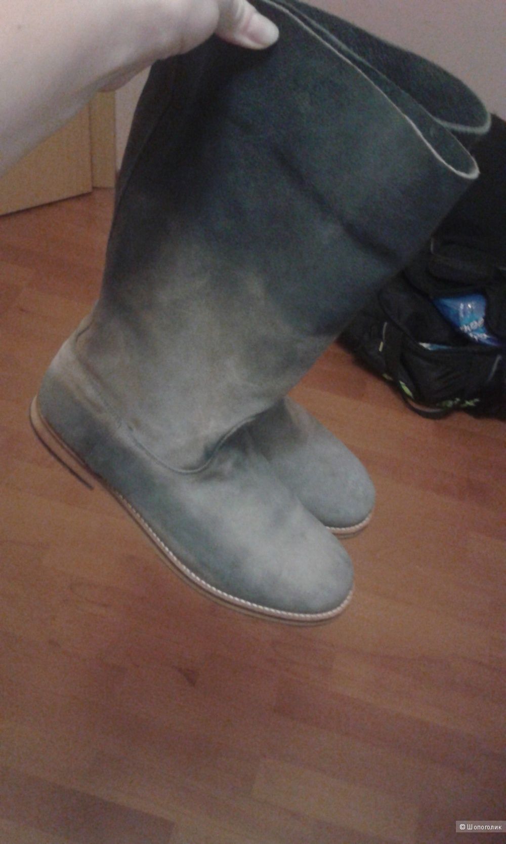 Новые замшевые сапоги In wear размер 41 на 40