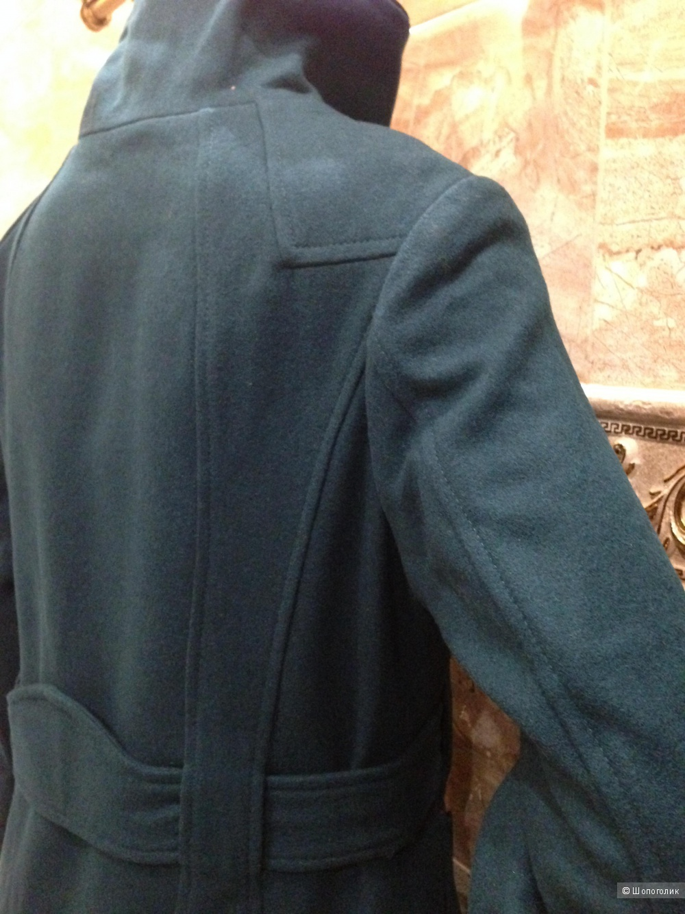 """Красивое дизайнерское пальто STEVE MADDEN цвета """"морская волна"""".р.46.Новое.Оригинал"""