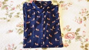 Красивая блузка Zolla с длинным рукавом (трансформер) 100% вискоза размер L с лисой