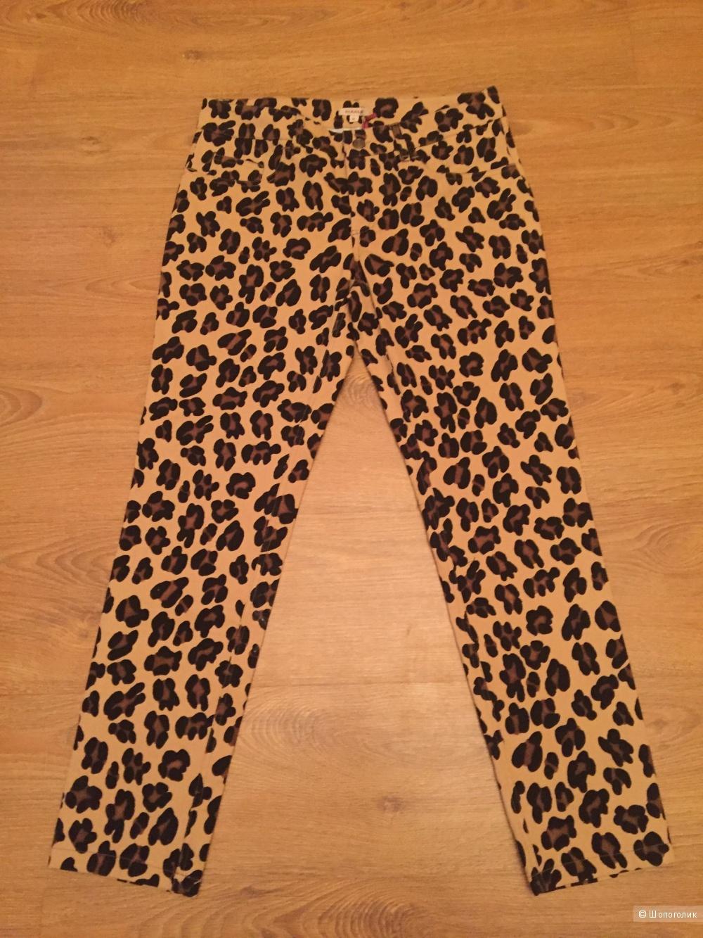 Брюки с леопардовым принтом P.A.R.O.S.H размер М