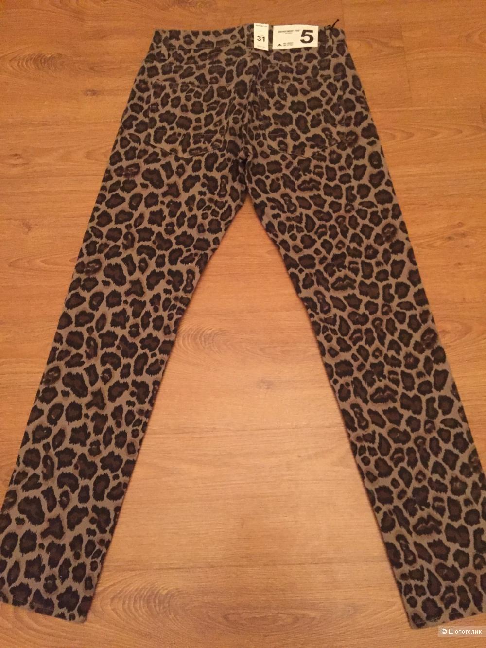 Итальянские брюки с леопардовым принтом Department 5