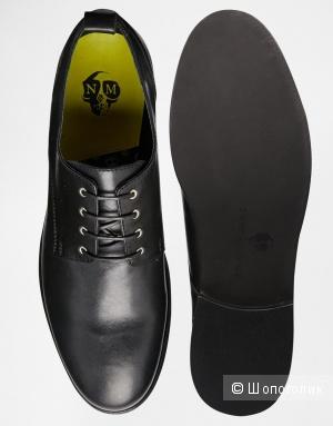 Noose Monkey мужские чёрные туфли дерби, UK7 (41)