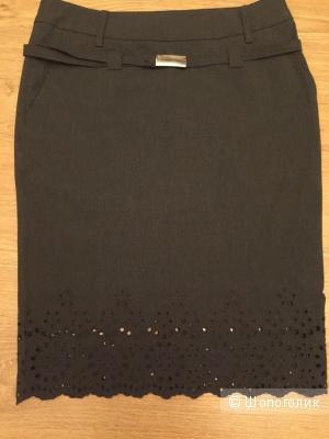 Серая юбка-карандаш Scervino Street