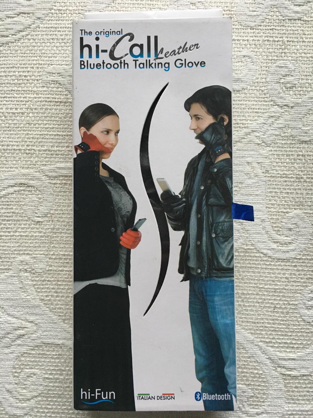 Перчатки hi-call bluetooth talking glove натуральная кожа