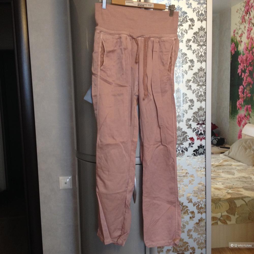 """Повседневные брюки, FREDDY, размер М, новые, цвет """"пыльной розы"""", хлопок/шелк"""