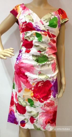 SUZI CHIN красивое яркое дизайнерское платье р.44 Новое