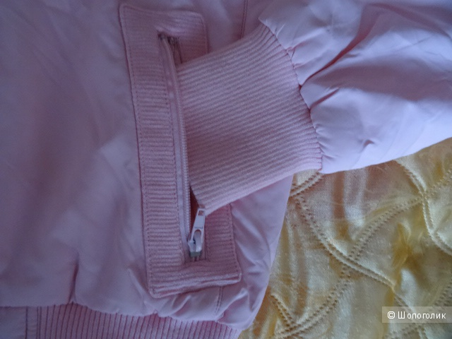 Розовая куртка-бомбер Everlast, б/у, размер 44-46