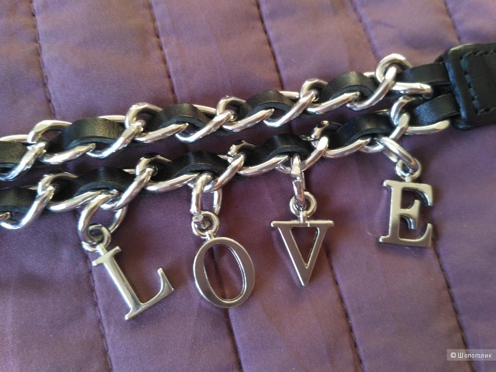 Кожаный ремень Love Moschino, 80