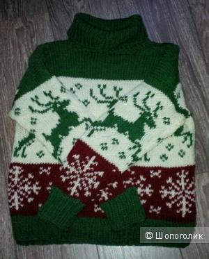 Новый зимний свитер ручной работы.