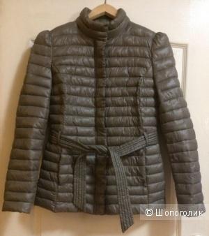 """Куртка на синтепоне """"Sisley"""". Цвет хаки (оливковый). 44-46 Rus. Б/У."""