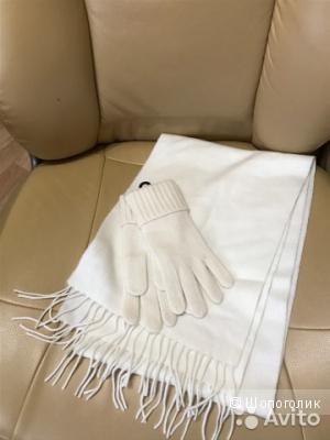 НОВЫЙ КОМПЛЕКТ UNIQLO 100% Кашемир шарф и перчатки