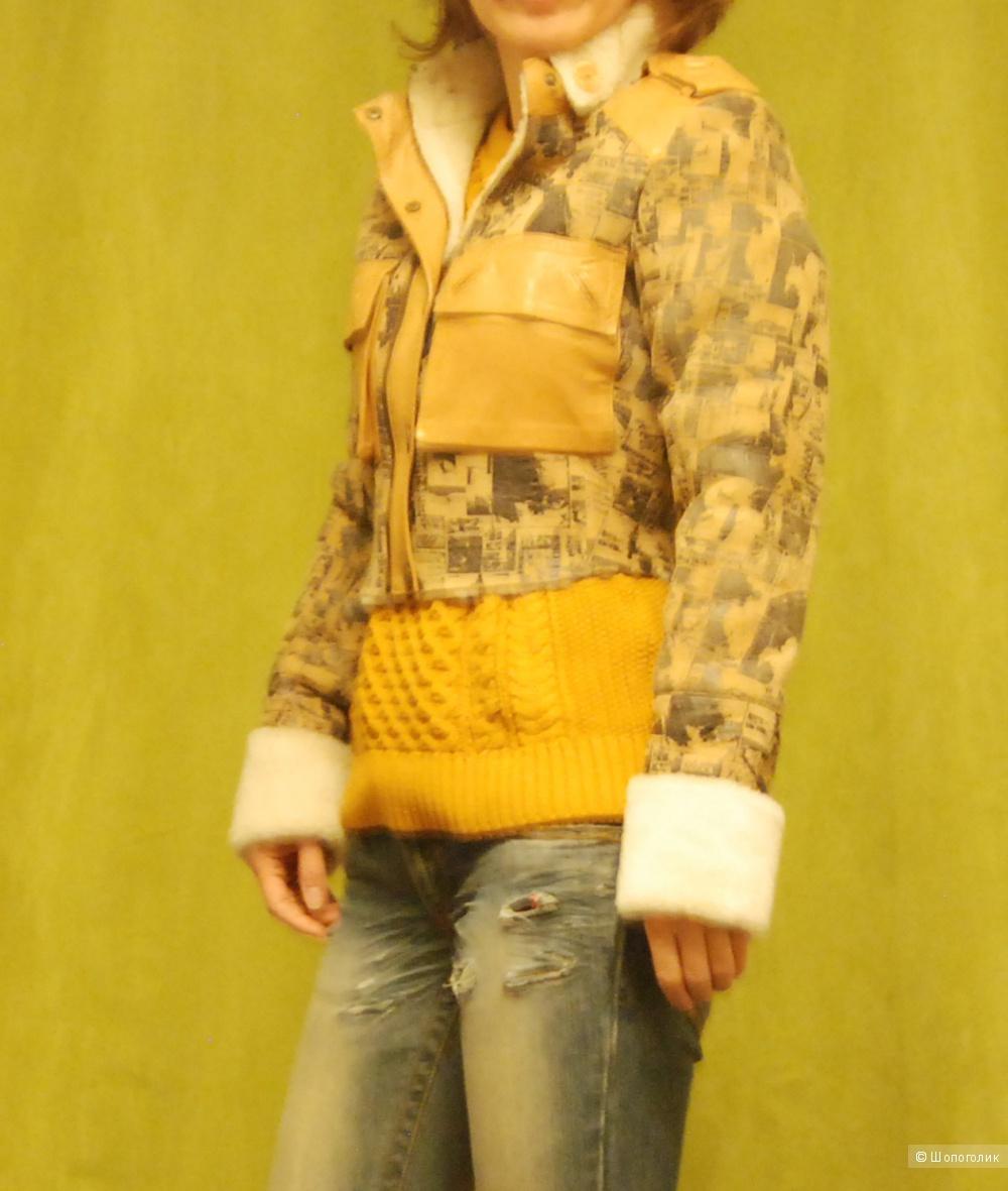 Куртка укороченная  зимняя, р.42-44