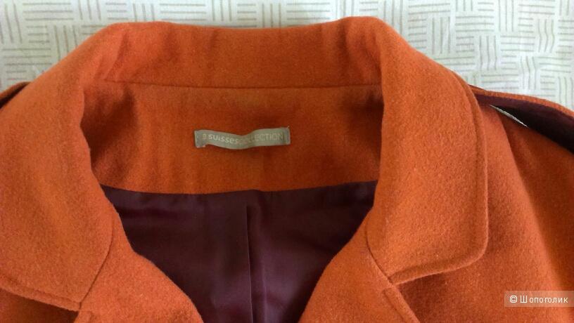 Шерстяной жакет-куртка в отличном состоянии