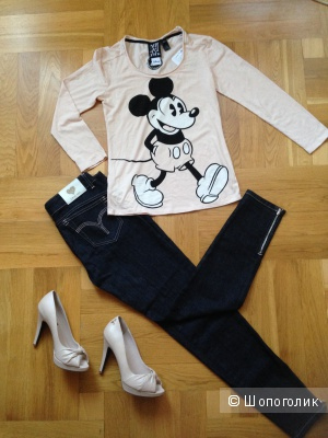 Топ Mano Jeans  с Микки-Маусом размер S