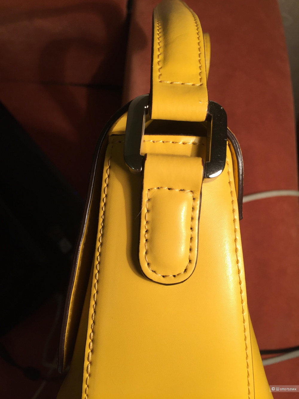 Новая желтая итальянская сумка Dissona