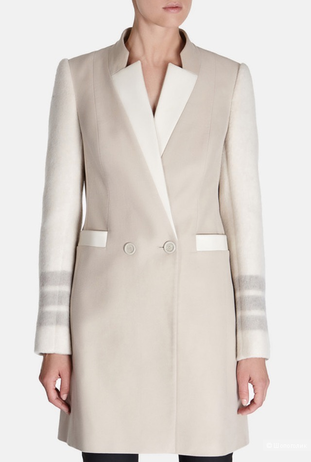 Бежевое пальто  Karen Millen, размер 44-46