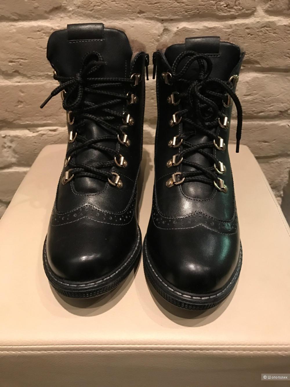 Зимние ботинки из натуральной кожи на меху 37, 38