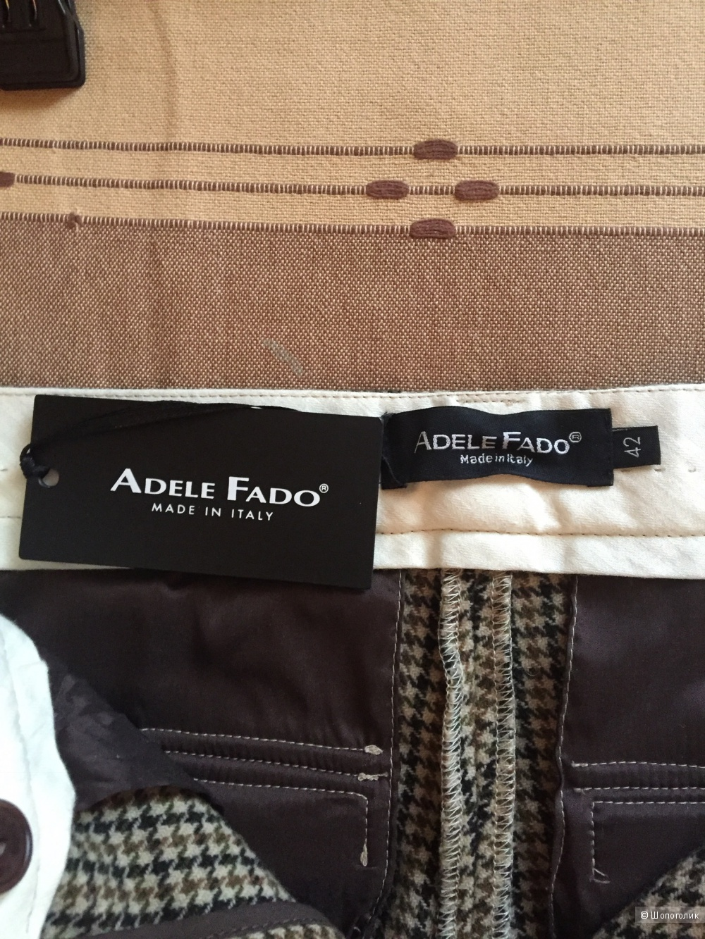Итальянские шерстяные шорты-бермуды Adele Fado размер 42-44