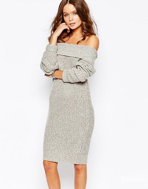 Платье-джемпер с открытыми плечами Fashion Union