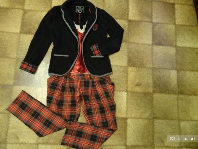 Пиджак чёрный трикотажный Bershka, б/у, размер 42-44